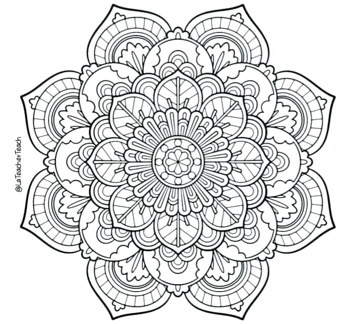693x640 Online Mandala Coloring Pages Mandala Coloring Online A Adult