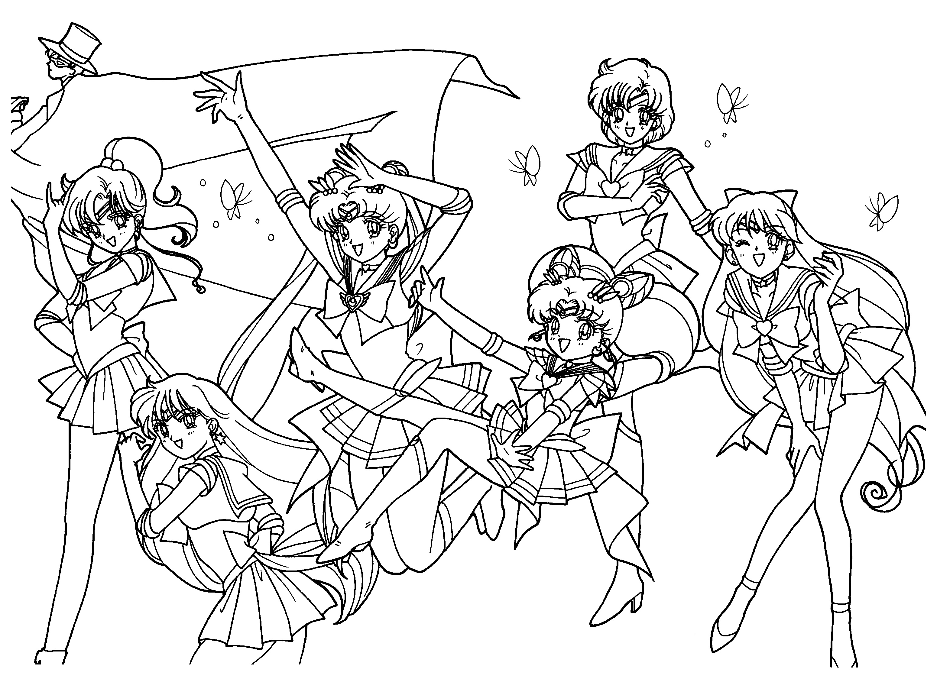 3100x2300 Big Sailor Moon Coloring Pages Online To Print