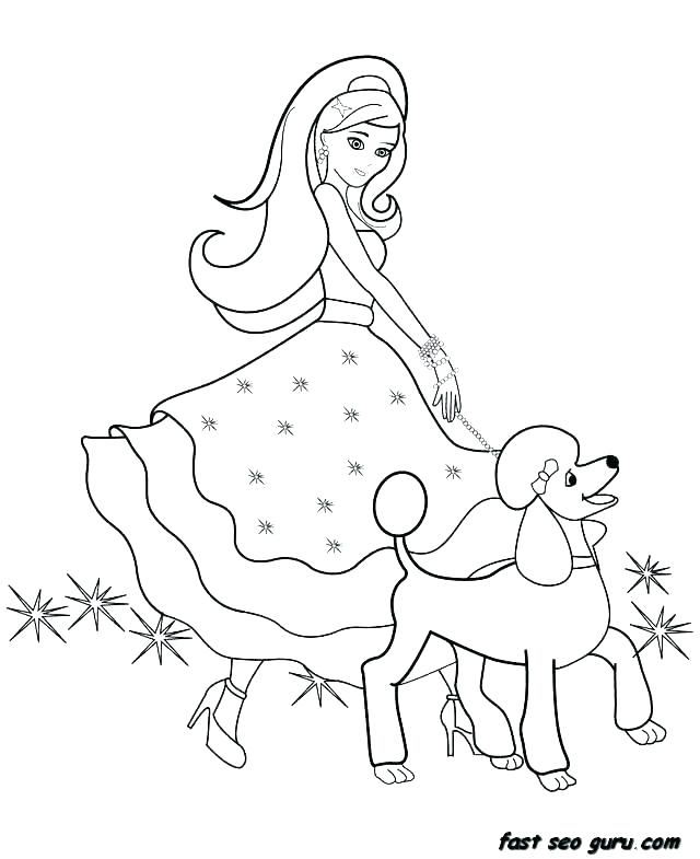 640x785 Coloring Pages Barbie Barbie Coloring Pages Online Printable