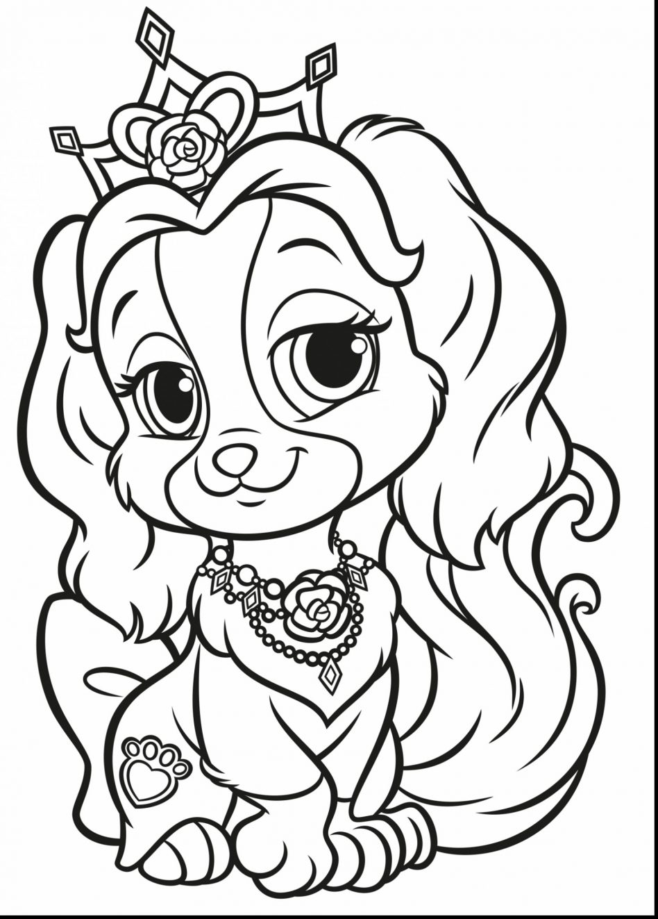 Coloring Pages Palace Pets