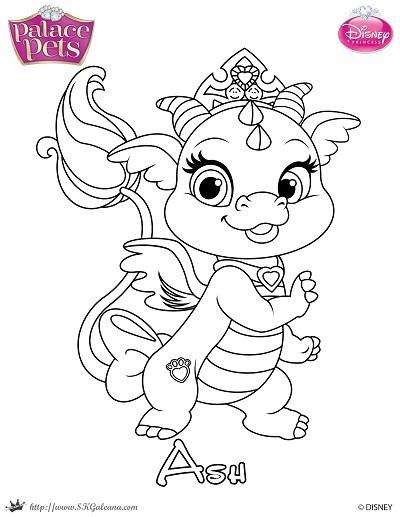400x517 Free Princess Palace Pets Coloring Page Of Ash Skgaleana
