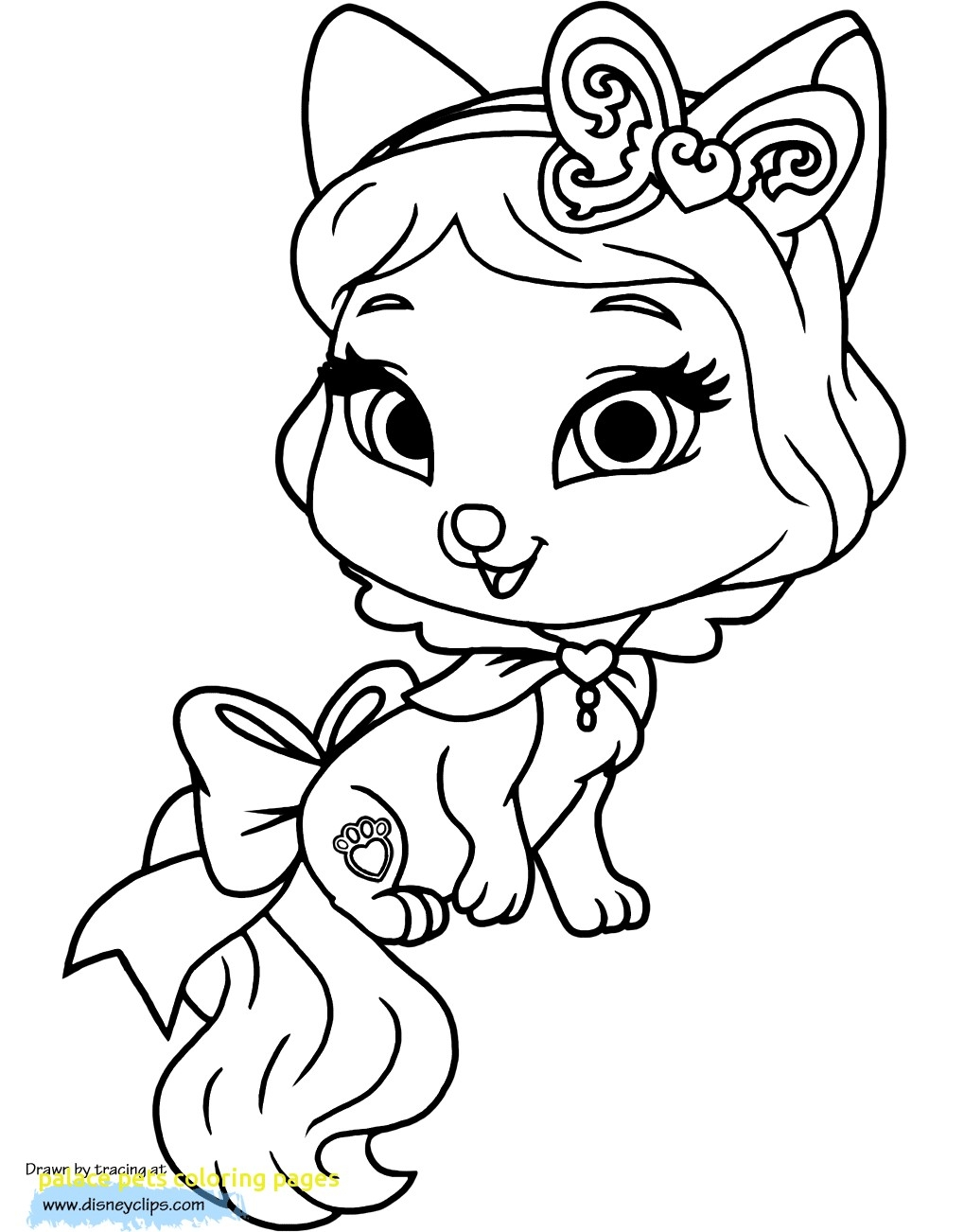 1019x1302 Palace Pets Coloring Pages