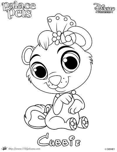 400x517 Coloring Page Of Cubbie From Princess Palace Pets