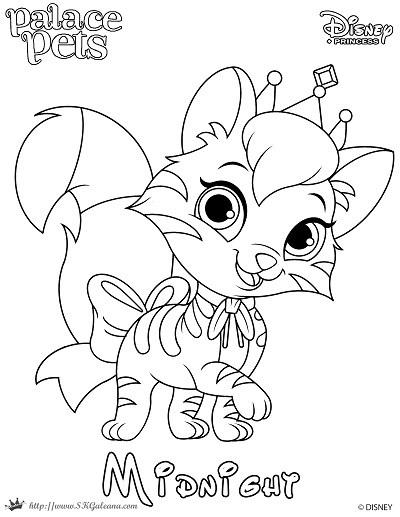 400x517 Princess Palace Pet Coloring Page Of Midnight Skgaleana