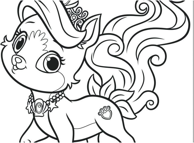 827x609 Princess Palace Pets Coloring Pages Devon Creamteas