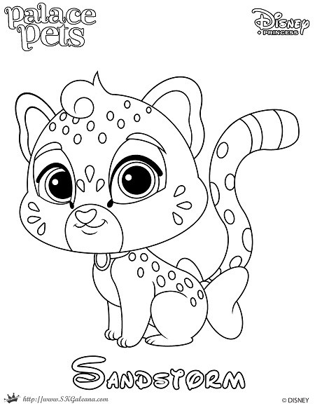 450x582 Disney's Princess Palace Pets Free Coloring Pages And Printables