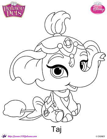 350x452 Disney Princess Palace Pets Taj Coloring Page Palace Pets