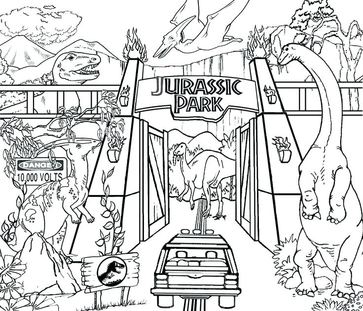 736x630 Jurassic Park Coloring Pages Park Coloring Page Best Park Coloring