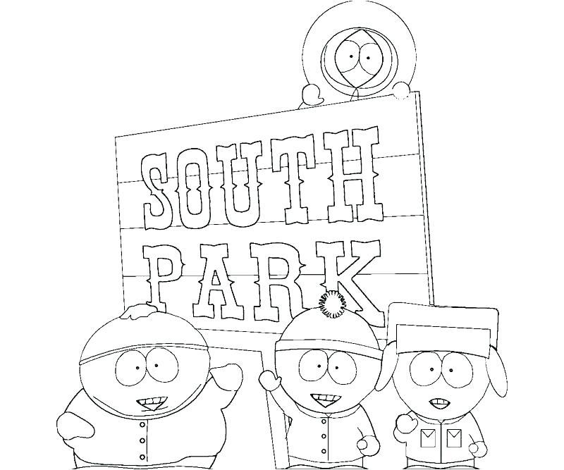 800x667 South Park Coloring Page Park Coloring Page South Park Coloring