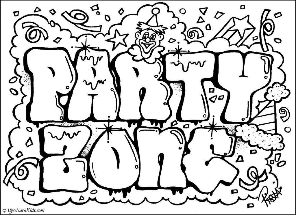 Kleurplaten Graffiti Letters.Coloring Pages Party At Getdrawings Com Free For Personal Use