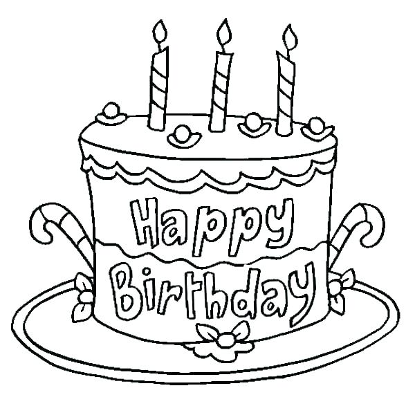 600x600 Coloring Page Birthday Cake Coloring Page Birthday Cake Birthday