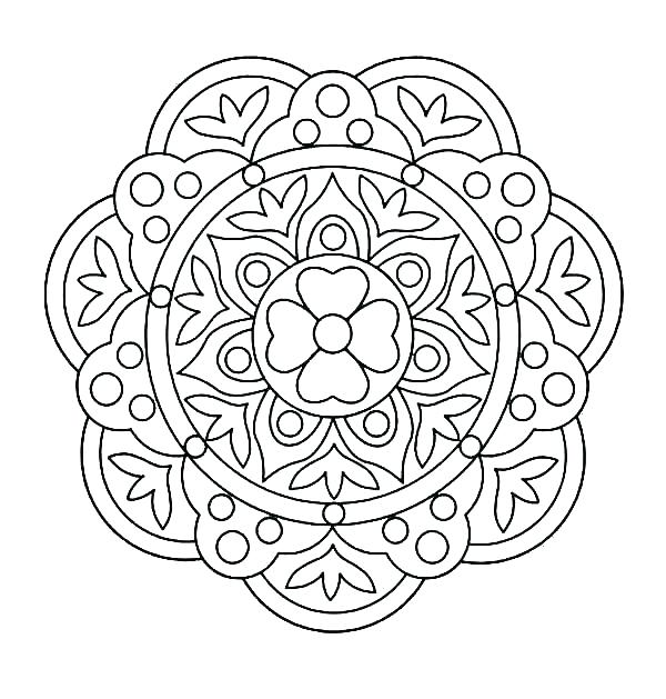 600x629 Flower Design Coloring Pages Pattern Color Pages Swirl Pattern