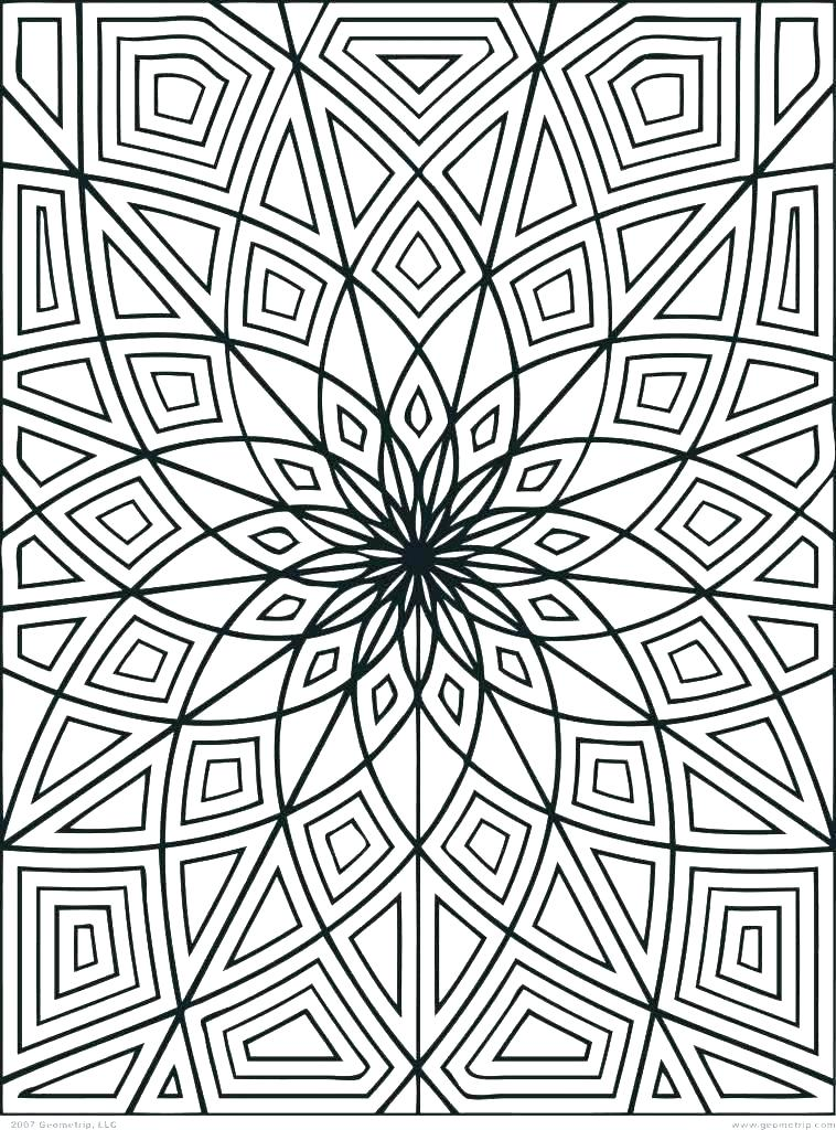 758x1024 Geometric Pattern Coloring Pages Geometric Designs Coloring Pages