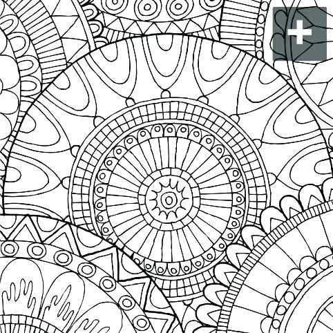 482x482 Abstract Design Coloring Pages