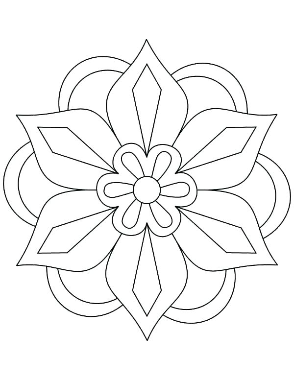 600x776 Geometric Patterns Coloring Pages