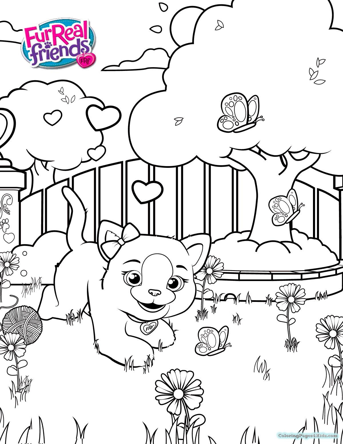 1200x1553 Furreal Friends Coloring Pages Pdf Coloring Pages For Kids