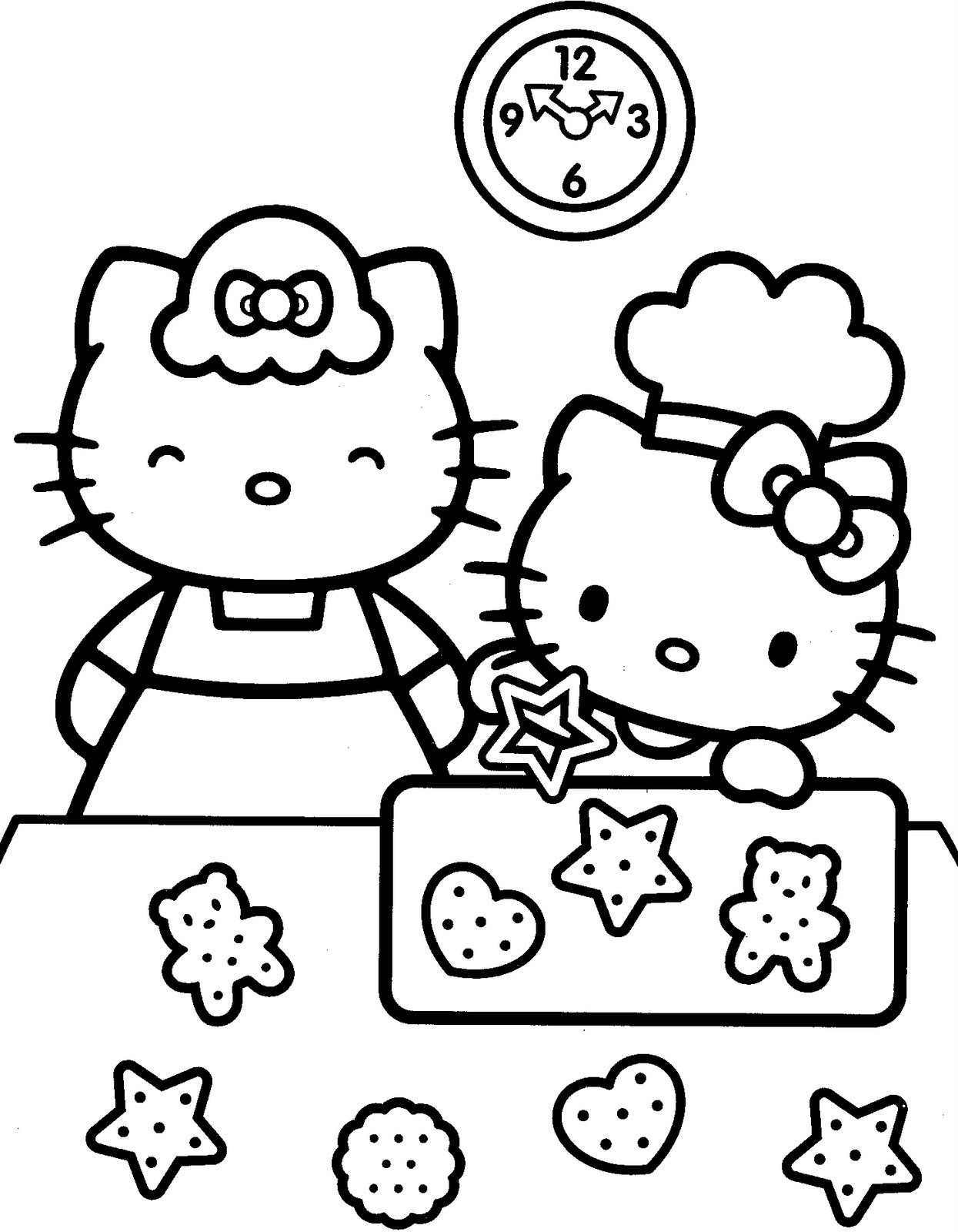 1245x1600 Hello Kitty Coloring Pages Pdf Depetta Throughout