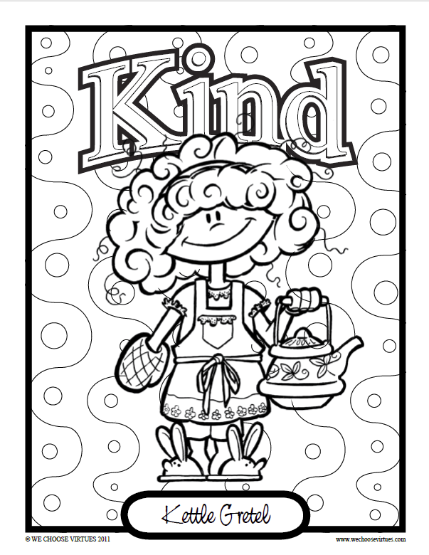 603x780 Kids Of Virtueville Coloring Pages Pdf We Choose Virtues