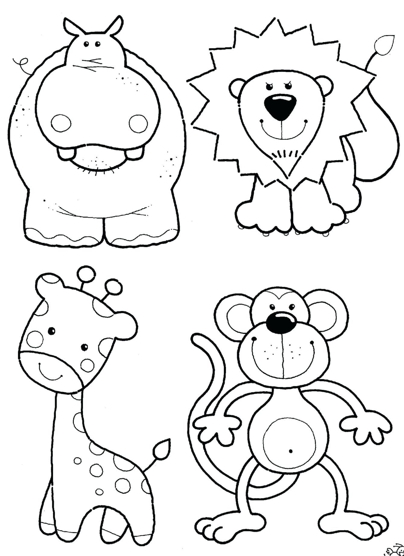1339x1840 Animal Coloring Pages Pdf
