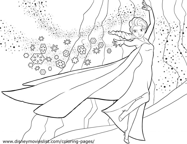 768x593 Frozen Coloring Pages Pdf Free Fresh Disney New Page On Elsa