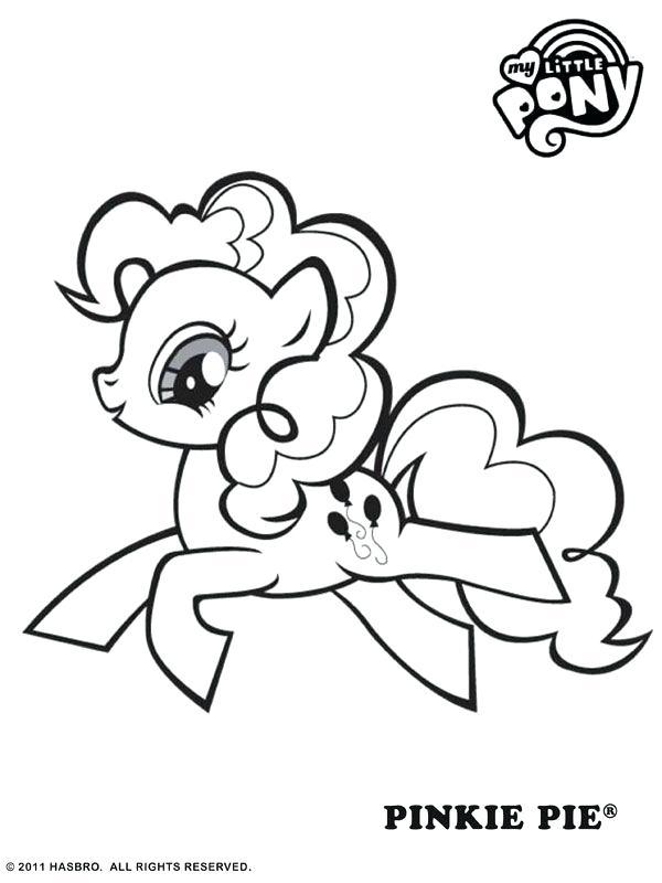 600x800 Pinkie Pie Coloring Page Free Online My Little Pony Pinkie Pie