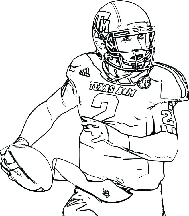 663x755 Football Players Coloring Pages Football Player Coloring Pages