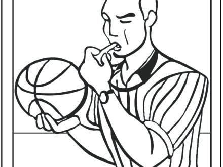 440x330 Free Basketball Coloring Pages Basketball Player Coloring Pages