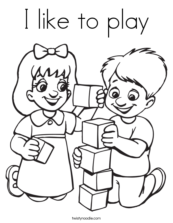 685x886 I Like To Play Coloring Page