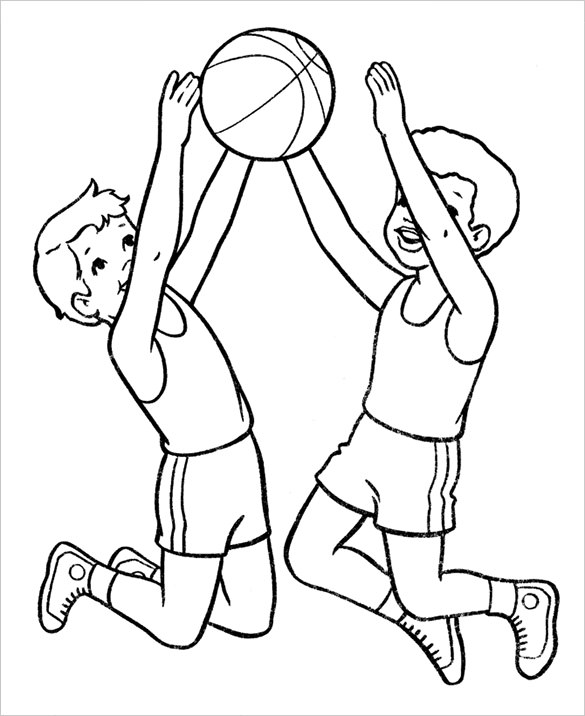 585x716 Basketball Coloring Pages Free Word, Pdf, Png Format