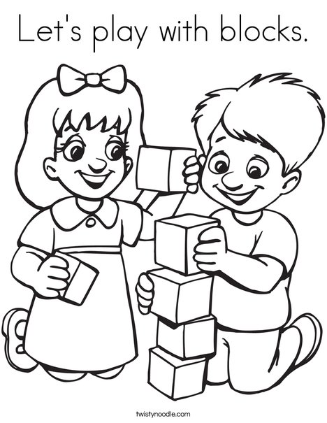 468x605 Let's Play With Blocks Coloring Page