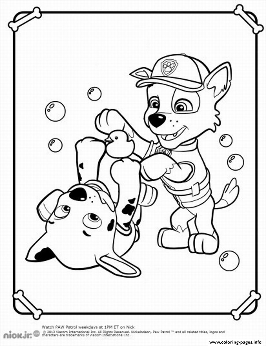 921x1200 Paw Patrol Rocky Play Coloring Pages Printable Ripping