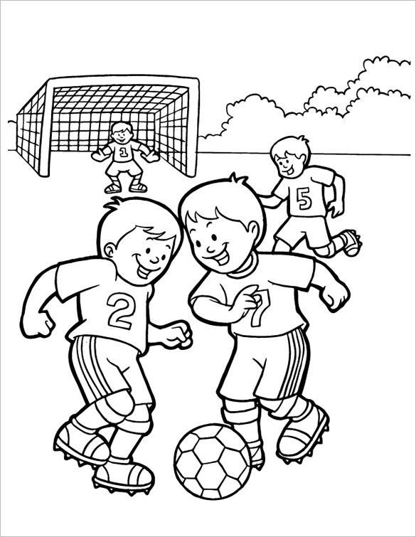 585x755 Football Coloring Pages Free Word, Pdf, Png Format