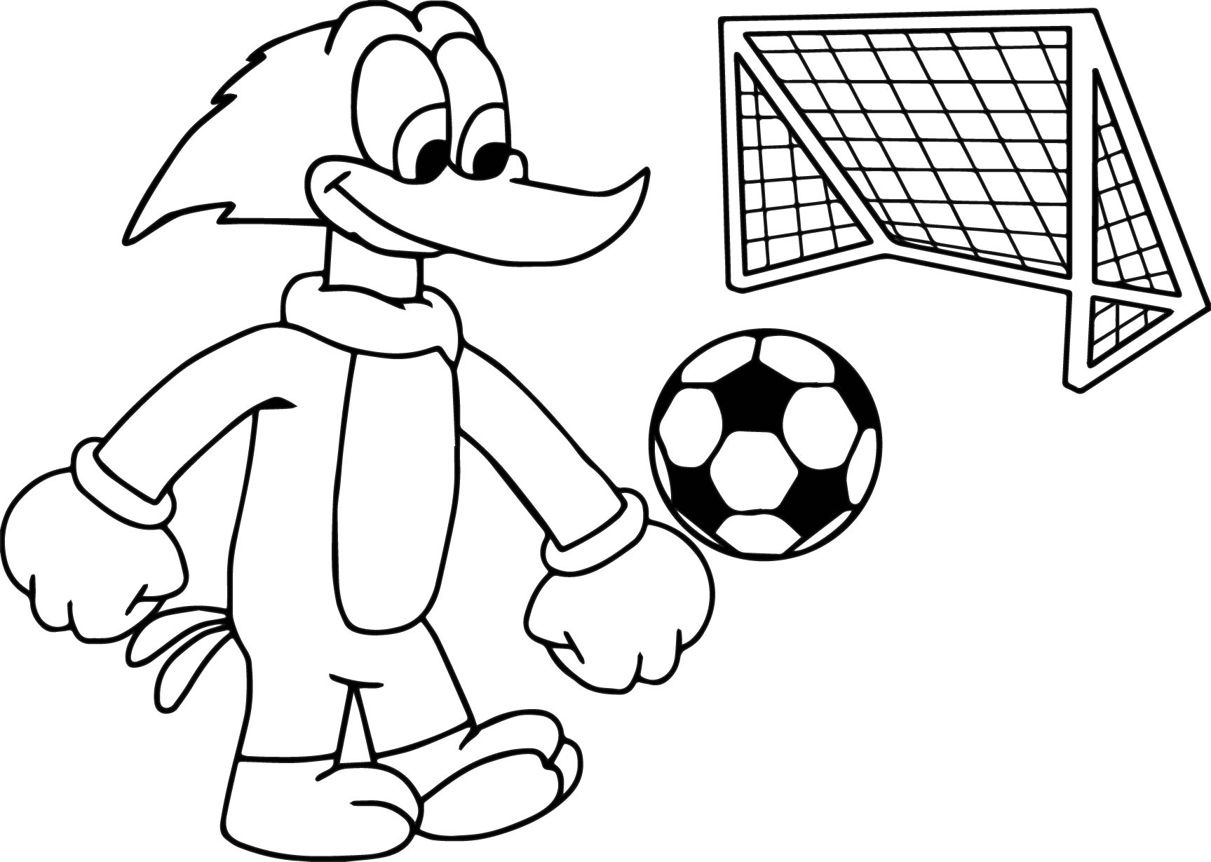 1727x1229 Stunning Design Soccer Coloring Pages Woody Woodpacker Play