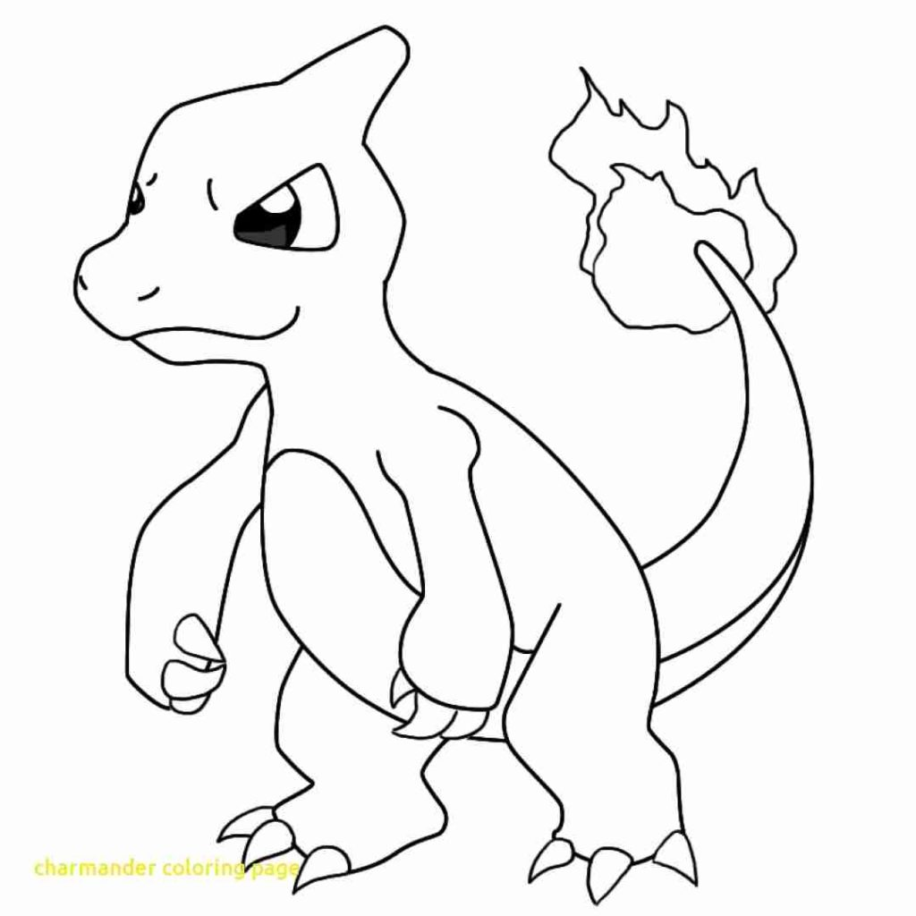 1024x1024 Charmander Coloring Page With Charmeleon Pokemon