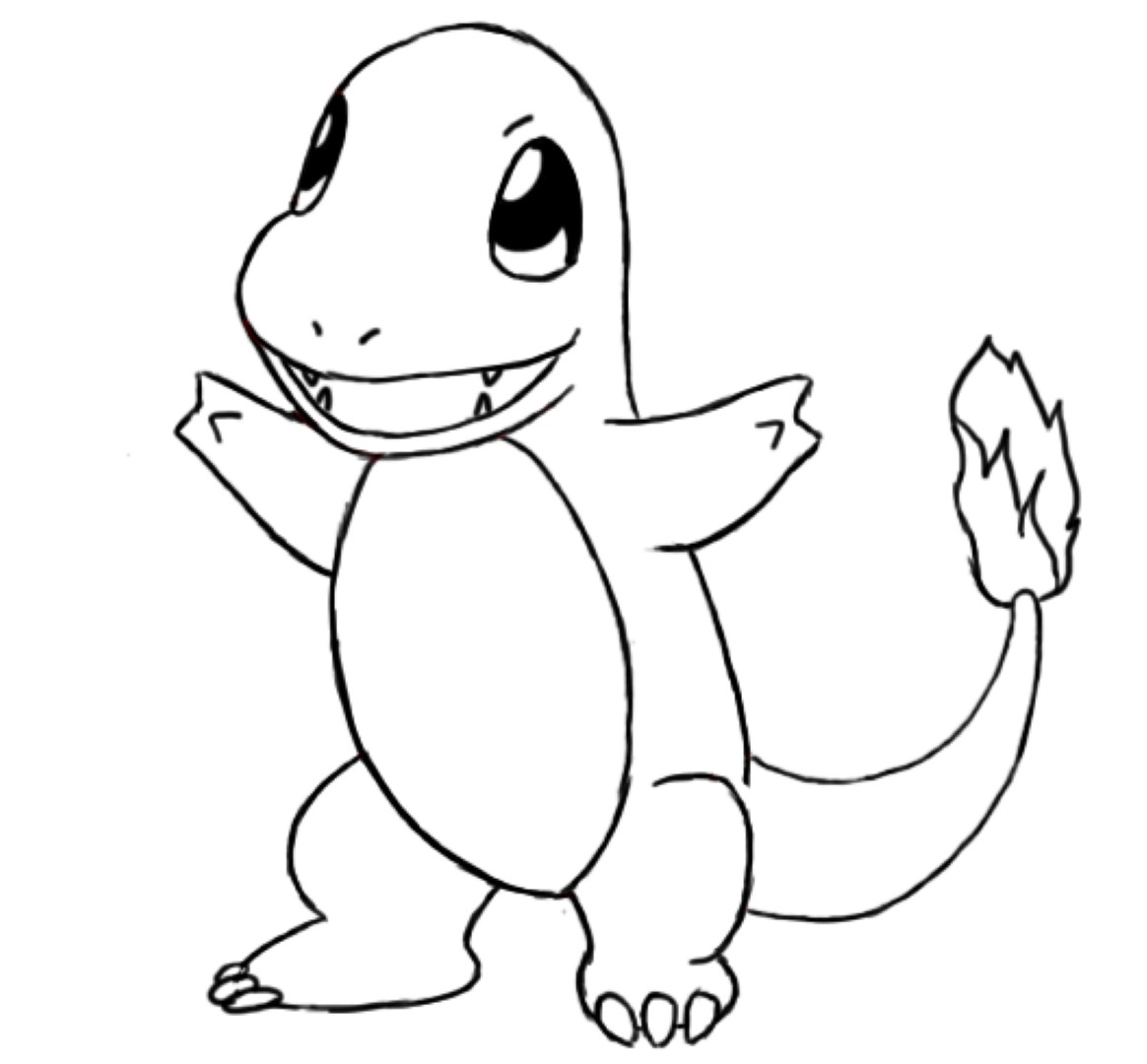 1164x1080 Charmander Coloring Pages