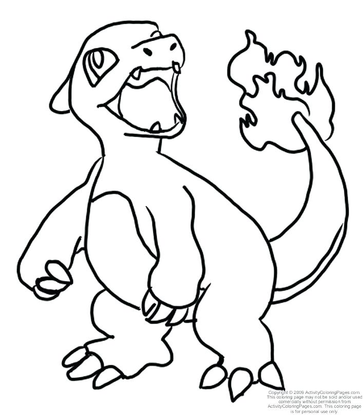 709x808 Charmander Pokemon Coloring Page And Coloring Pages Page