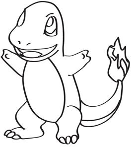 266x296 Charmander Pokemon Coloring Pages