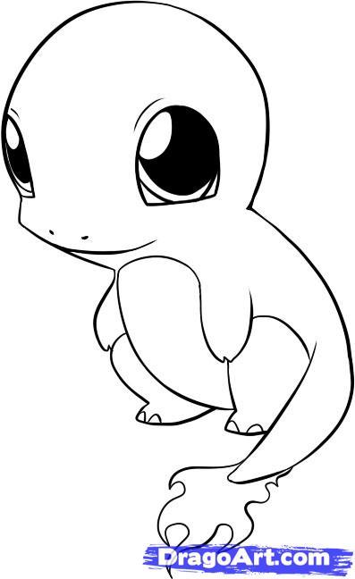 397x648 Cute Chibi Pokemon Charmander Coloring Pages