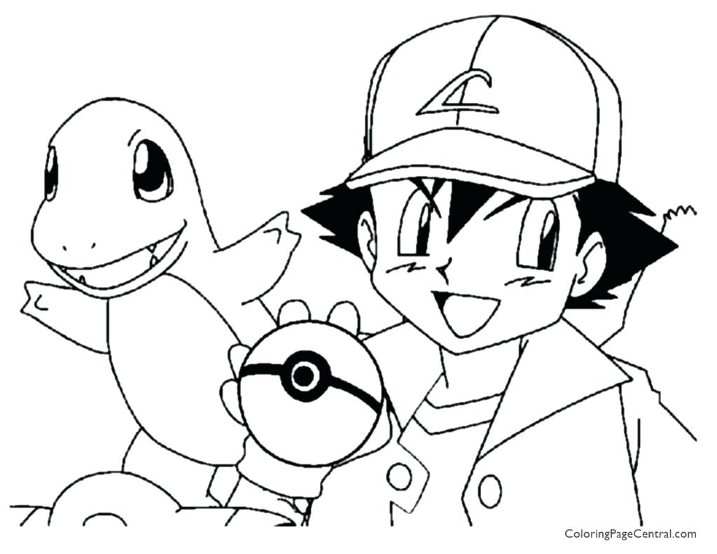 1024x791 Pokemon Charizard Coloring Sheets Ash Page Central Charmander