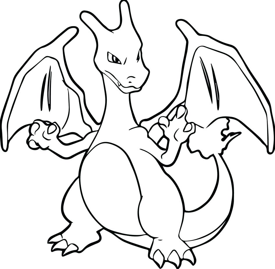 945x924 Pokemon Charmander Coloring Pages Download Mega Charizard Y Page