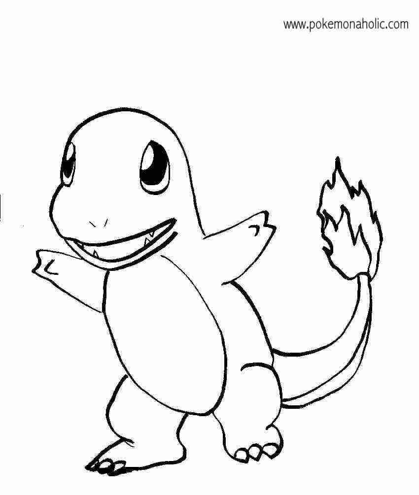 850x1005 Pokemon Charmander Coloring Pages Printable For Arresting Olegratiy