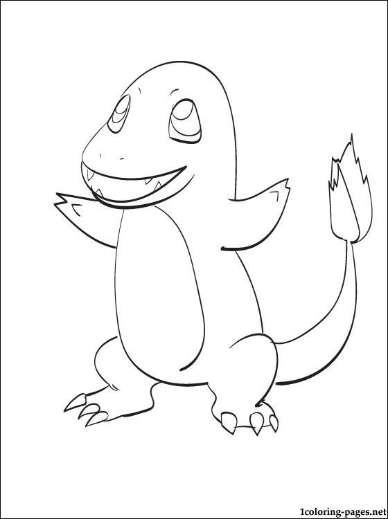 560x750 Printable Coloring Page Pokemon Charmander Coloring Pages