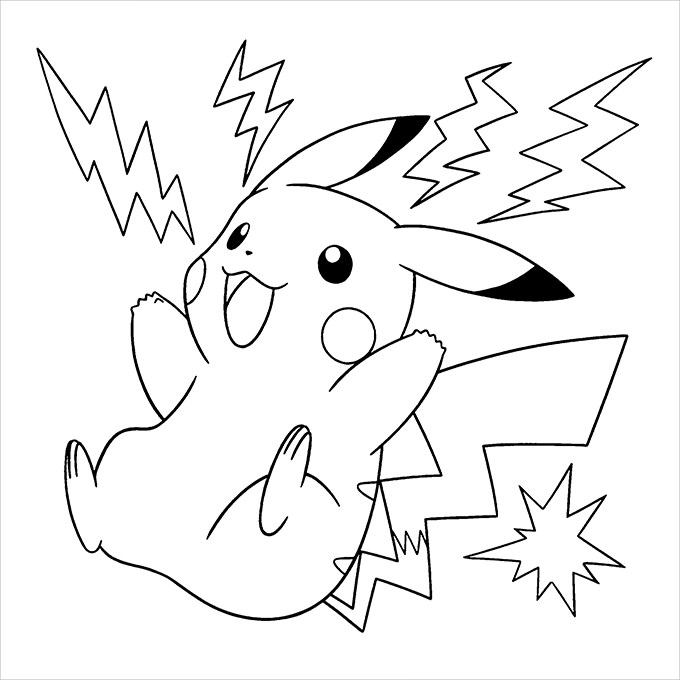 680x680 Pikachu Coloring Pages Pokemon Go Pikachu Flying Coloring Page