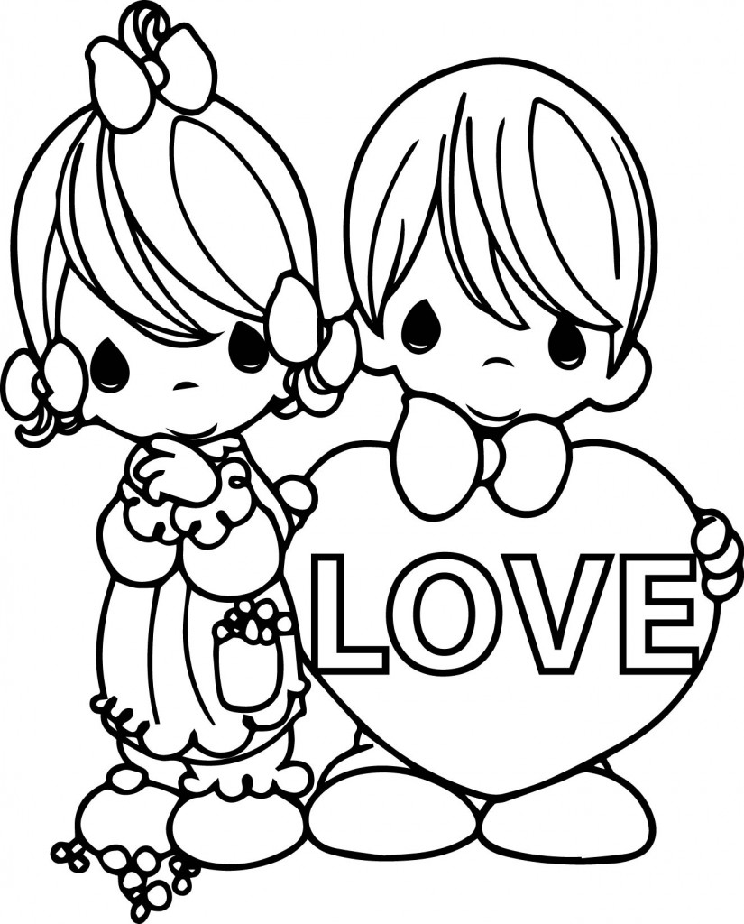 Coloring Pages Precious Moment