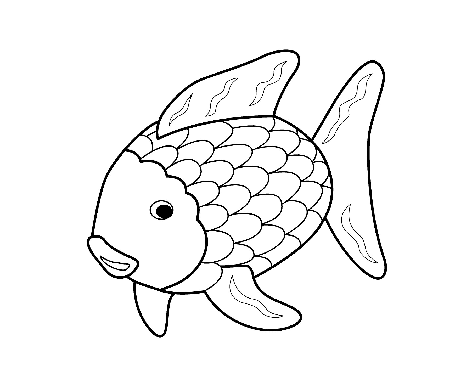 1804x1483 Easy Coloring Pages Of Fish Fresh Rainbow Fish Coloring Page