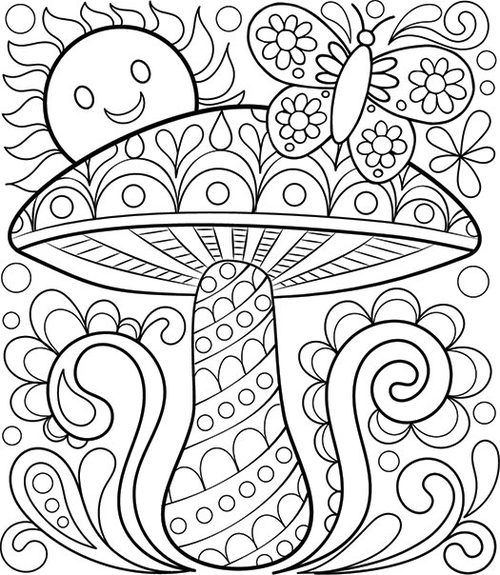 500x575 Printable Easy Adult Coloring Pages Download