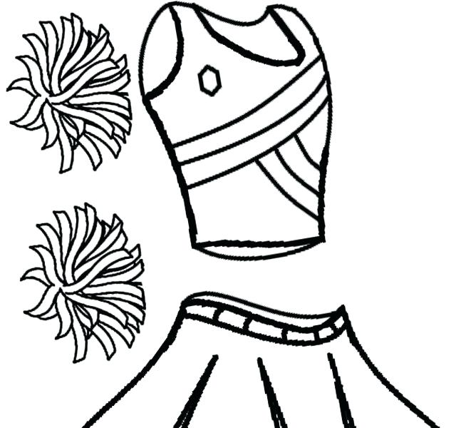 654x600 Cheerleading Coloring Sheets Cheerleader Coloring Pages Printable
