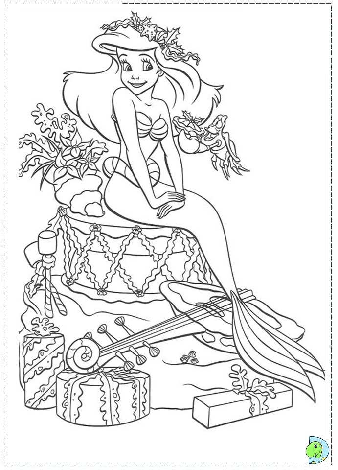 691x960 Free Printable Christmas Disney Princess Coloring Pages