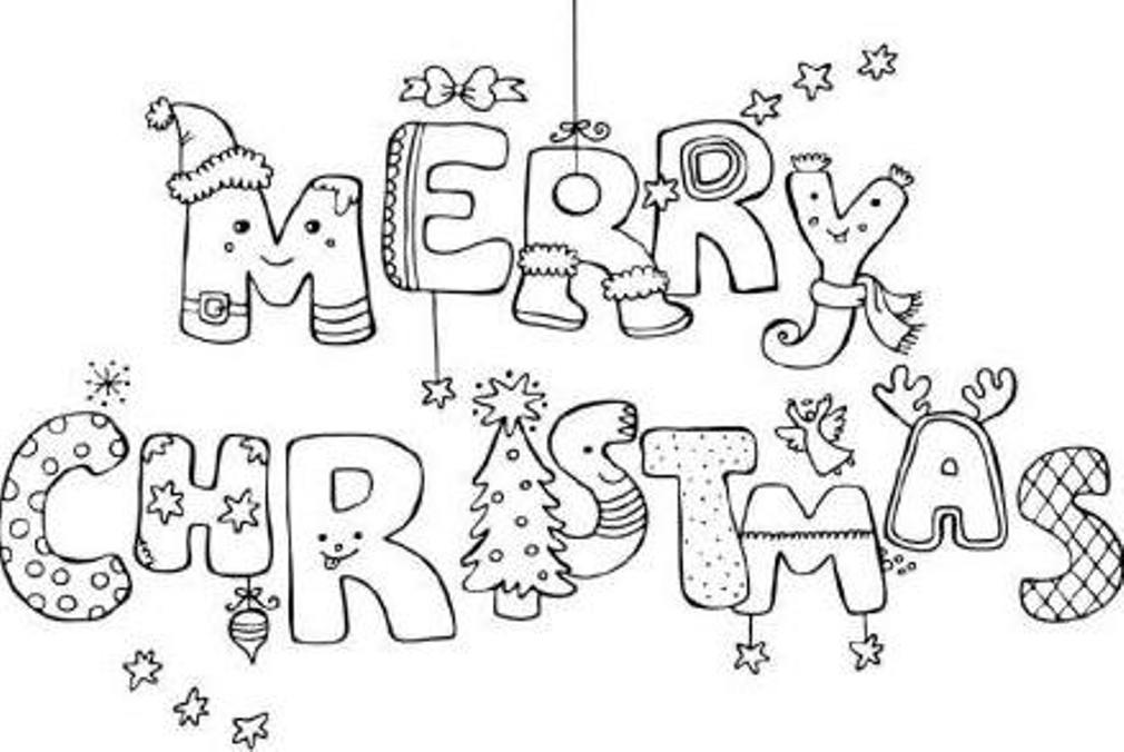 1010x676 Merry Christmas Coloring Pages Printable Many Interesting Cliparts