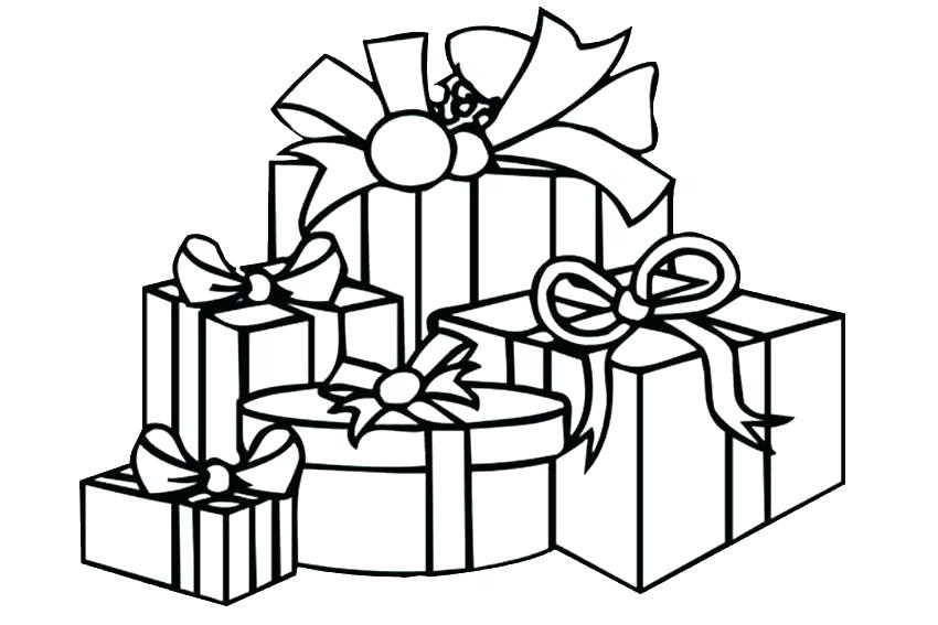 850x567 Present Coloring Pages Present Coloring Pages Gift Coloring Pages